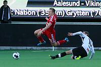 Tippeliga Fotball 01.Mai 2014. Eliteserie. Foto Christian Blom Digitalsport Sogndal - Rosenborg. Jonas Svensson RBK. Ørjan Hopen Sogndal.
