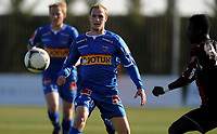 Fotball<br /> 24. Februar 2012<br /> Treningskamp<br /> La Manga , Spania<br /> Sandefjord - Østersund 1 - 4<br /> Sindre Ek (M) , Sandefjord<br /> Foto: Astrid M. Nordhaug