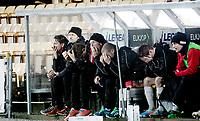 Fotball<br /> Tippeligaen<br /> Åråsen Stadion 27.10.13<br /> Lillestrøm LSK - Tromsø TIL<br /> Fortvilet TIL benk etter tap på overtid , Steinar Nilsen<br /> Foto: Eirik Førde