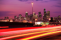 Seattle Skyline - Evening Rush Hour
