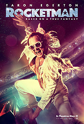RELEASE DATE: May 17, 2019 TITLE: Rocketman STUDIO: Paramount Pictures DIRECTOR: Dexter Fletcher PLOT: The story of Elton John's life, from his years as a prodigy at the Royal Academy of Music through his influential and enduring musical partnership with Bernie Taupin. STARRING: TARON EGERTON as Elton John. (Credit Image: © Paramount Pictures/Entertainment Pictures/ZUMAPRESS.com)