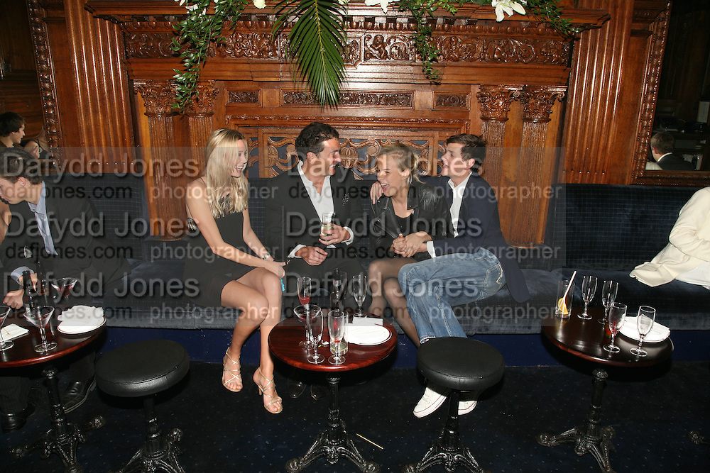 Lisa Henrekson, David Peacock, Lady Louisa Compton and Lord Alexander Spencer-Churchill, Tatler's Little Black Book party. Tramp. Jermyn St.  London. 7 November 2007. -DO NOT ARCHIVE-© Copyright Photograph by Dafydd Jones. 248 Clapham Rd. London SW9 0PZ. Tel 0207 820 0771. www.dafjones.com.