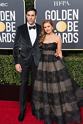 January 6, 2019 - Beverly Hills, California, United States of America - Golden Globe nominee Sacha Baron Cohen (L) and Isla Fisher attend the 76th Annual Golden Globe Awards at the Beverly Hilton in Beverly Hills, California on  Sunday, January 6, 2019. HFPA/POOL/PI (Credit Image: © Prensa Internacional via ZUMA Wire)