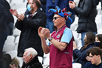 Football - 2020 / 2021 Premier League - Final Round - West ham United vs Southampton - London Stadium<br /> <br /> West ham United fans applaud the sides of at half time after scoring twice in the first half.<br /> <br /> COLORSPORT/ASHLEY WESTERN