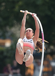 Jade Ive in the Pole Vault during the Loughborough International Athletics Meeting at the Paula Radcliffe Stadium, Loughborough.