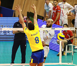 June 16, 2018 - Varna, Bulgaria - from left Wallace de SOUZA (Brazil), Earvin NGAPETH (France), .mens Volleyball Nations League,week 4, Brazil vs Francel, Palace of culture and sport, Varna/Bulgaria, June 16, 2018, the fourth of 5 weekends of the preliminary lap in the new established mens Volleyball Nationas League takes place in Varna/Bulgaria. (Credit Image: © Wolfgang Fehrmann via ZUMA Wire)