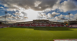 WREXHAM, WALES - Thursday, November 10, 2016: Racecourse Ground before Wales U19 against Greece U19 in the UEFA European Under-19 Championship Qualifying Round Group 6 match at the Racecourse Ground. (Pic by Gavin Trafford/Propaganda)