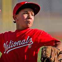 Nationals Thomas Placencio pitches during a Nationals-Giants baseball game on Tuesday at Ford Canyon park in Gallup.