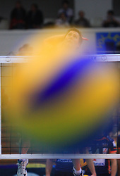 Ball at volleyball match of CEV Indesit Champions League Men 2008/2009 between Trentino Volley (ITA) and ACH Volley Bled (SLO), on November 4, 2008 in Palatrento, Italy. (Photo by Vid Ponikvar / Sportida)