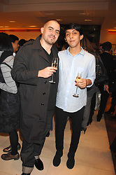 Left to right, MARCOS VILLALBA and CHRISTOPHER LAWSON designers of the 2007 LV windows at a reception to launch the 2007 Louis Vuitton Christmas windows in collaboration with Central Saint Martins College of Art & Design held at 17-18 New Bond Street, London W1 on 7th November 2007.<br />