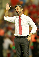 Albania's coach Christian Panucci during FIFA World Cup 2018 Qualifying Round match. October 6,2017.(ALTERPHOTOS/Acero)