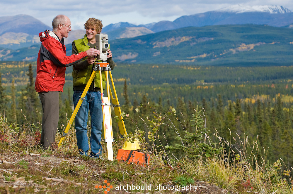 Surveying student and instructor.<br /> <br /> NOT IN YOUR BUDGET? Contact Cathie for a price specific to your project.