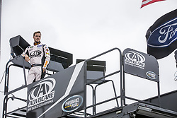 October 19, 2018 - Kansas City, Kansas, United States of America - Trevor Bayne (6) hangs out in the garage during practice for the Hollywood Casino 400 at Kansas Speedway in Kansas City, Kansas. (Credit Image: © Justin R. Noe Asp Inc/ASP via ZUMA Wire)