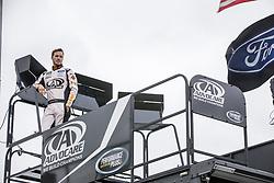 October 19, 2018 - Kansas City, Kansas, United States of America - Trevor Bayne (6) hangs out in the garage during practice for the Hollywood Casino 400 at Kansas Speedway in Kansas City, Kansas. (Credit Image: © Justin R. Noe Asp Inc/ASP via ZUMA Wire)
