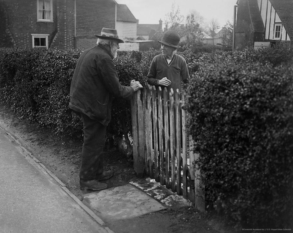 Kentish Types - Exchange of Opinion Across the Gate, Kent, England, 1932