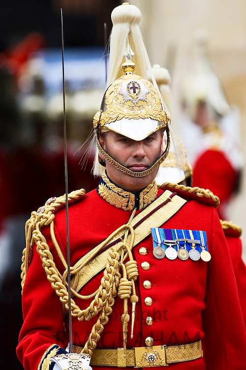 Guardsman from the Lifeguards on parade in England, UK