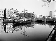 As part of the Millennium celebrations in Dublin, a Viking longboat sailed up the Liffey and moored at O'Connell Bridge. The finding of the Viking settlement at Wood Quay shows the depth of Dublin's Viking heritage.<br /> 24 November 1988