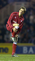 Photo. Jed Wee<br />Middlesbrough v Bradford Reserves, The Riverside, Middlesbrough. 25/02/2003.<br />Middlesbrough's Juninho shows off his new boots as he inspires his team to a golden showing against Bradford's hapless reserves.