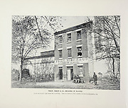 """PRICE, BIRCH & CO., DEALERS IN SLAVES. A not uncommon sign before the Civil War.<br />  This is a view of a slave market, located in Alexandria, Ga. from The American Civil War book and Grant album : """"art immortelles"""" : a portfolio of half-tone reproductions from rare and costly photographs designed to perpetuate the memory of General Ulysses S. Grant, depicting scenes and incidents in connection with the Civil War Published  in Boston and New York by W. H. Allen in 1894"""