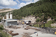 An overview of the Soma mine site in western Turkey where nearly 300 miners have been confirmed dead in a fatal incident caused by an explosion.