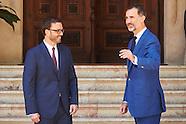 073115 King Felipe VI of Spain attends audiences in Palma