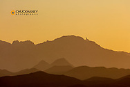 Quinlan Mountains with Kitt Peak National Observatory near Tucson, Arizona, USA
