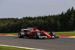 August 25, 2017 - Francorchamps, Belgium - SEBASTIAN VETTEL of Germany and Scuderia Ferrari drives during practice session of the 2017 Formula 1 Belgian Grand Prix in Francorchamps, Belgium. (Credit Image: © James Gasperotti via ZUMA Wire)
