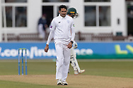 Mohammad Abbas during Day 3 of the LV= Insurance County Championship match between Leicestershire County Cricket Club and Hampshire County Cricket Club at the Uptonsteel County Ground, Leicester, United Kingdom on 10 April 2021.