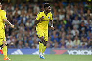 Ellis Harrison of Bristol Rovers celebrates after scoring his sides 2nd goal from a penalty to make it 3-2. EFL Cup 2nd round match, Chelsea v Bristol Rovers at Stamford Bridge in London on Tuesday 23rd August 2016.<br /> pic by John Patrick Fletcher, Andrew Orchard sports photography.