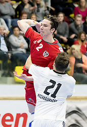 06.01.2017, BSFZ Suedstadt, Maria Enzersdorf, AUT, IHF Junior WM 2017 Qualifikation, Ungarn vs Österreich, im Bild Philipp Seitz (AUT) // during the IHF Men's Junior World Championships qualifying match between Hungary and Austria at the BSFZ Suedstadt, Maria Enzersdorf, Austria on 2017/01/06, EXPA Pictures © 2017, PhotoCredit: EXPA/ Sebastian Pucher