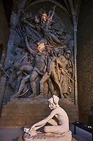 France, Côte-d'Or (21), Paysage culturel des climats de Bourgogne classés Patrimoine Mondial de l'UNESCO, Dijon, le musée Rude, le Départ des volontaires de 1792 ou La Marseillaise ou le Chant du Départ de François Rude entre 1833 et 1863 // France, Burgundy, Côte-d'Or, Dijon, Unesco world heritage site, Rude museum, the Marseillaise statue