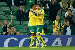 Norwich City's Marley Watkins celebrates scoring his side's third goal of the game