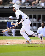CHICAGO - AUGUST 25:  Jose Trevino #56 of the Texas Rangers bats against the Chicago White Sox during Players Weekend on August  25, 2019 at Guaranteed Rate Field in Chicago, Illinois.  (Photo by Ron Vesely)  Subject:   Jose Trevino