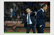 Finland head coach Markku Kanerva at the final whistle of 1-0 qualification win over Greece. Tampere, Finland, September 5, 2019.