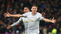 March 5, 2018 - London, United Kingdom - Manchester United's Nemanjo Matic celebrates scoring his sides third goal .during the Premiership League  match between Crystal Palace and Manchester United at Selhurst Park Stadium in London, England on 05 March 2018. (Credit Image: © Kieran Galvin/NurPhoto via ZUMA Press)