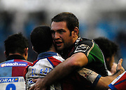 Twickenham, GREAT BRITAIN, Quins, Ollie KOHN, is congratulated by Joe EL ABD, during the Guinness Premieship match, NEC Harlequins vs Bristol Rugby, at the Twickenham Stoop Stadium, England, on Sat 24.02.2007  [Photo, Peter Spurrier/Intersport-images].....