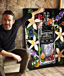 """Ryan Reynolds releases a photo on Instagram with the following caption: """"When legendary @ashleylongshoreart paints @aviationgin like one of her french girls. \ud83d\udcf7: @blakelively"""". Photo Credit: Instagram *** No USA Distribution *** For Editorial Use Only *** Not to be Published in Books or Photo Books ***  Please note: Fees charged by the agency are for the agency's services only, and do not, nor are they intended to, convey to the user any ownership of Copyright or License in the material. The agency does not claim any ownership including but not limited to Copyright or License in the attached material. By publishing this material you expressly agree to indemnify and to hold the agency and its directors, shareholders and employees harmless from any loss, claims, damages, demands, expenses (including legal fees), or any causes of action or allegation against the agency arising out of or connected in any way with publication of the material."""