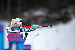 Kaisa Makarainen (FIN) during the Mass Start Women 12,5 km at day 4 of IBU Biathlon World Cup 2019/20 Pokljuka, on January 23, 2020 in Rudno polje, Pokljuka, Pokljuka, Slovenia. Photo by Peter Podobnik / Sportida