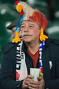 Twickenham, United Kingdom.   Supporter with a French Cockarel hat, fefore the  Women's RBS, Six Nations Match; England Women  vs France Women. at the  RFU Stadium, Twickenham, England, <br /> <br /> Saturday  04/02/2017<br /> <br /> [Mandatory Credit; Peter Spurrier/Intersport-images]