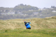Christopher Rabbette (Esker Hills) on the 17th during Round 3 of the Ulster Boys Championship at Donegal Golf Club, Murvagh, Donegal, Co Donegal on Friday 26th April 2019.<br /> Picture:  Thos Caffrey / www.golffile.ie