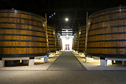 Huge vats of port s in port wine cellars at Graham's Port Lodge in V|la Nova de Gaia in Porto, Portugal