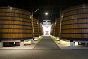 Huge vats of port s in port wine cellars at Graham's Port Lodge in V|la Nova de Gaia in Porto, Portugal