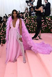 """Photo by: Doug Peters/starmaxinc.com<br />STAR MAX<br />©2019<br />ALL RIGHTS RESERVED<br />Telephone/Fax: (212) 995-1196<br />5/6/19<br />Naomi Campbell at the 2019 Costume Institute Benefit Gala celebrating the opening of """"Camp: Notes on Fashion"""".<br />(The Metropolitan Museum of Art, NYC)"""