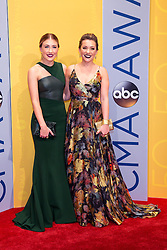 November 2, 2016 - Nashville, Tennessee, USA - Maddie Marlow and Tae Dye on the red carpet at the 50th Annual CMA Awards that took place at the Bridgestone Arena in downtown Nashville, Tennessee. (Credit Image: © Jason Walle via ZUMA Wire)