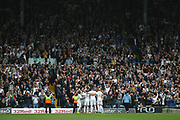 Leeds fans celebrate during the EFL Sky Bet Championship match between Leeds United and Burton Albion at Elland Road, Leeds, England on 9 September 2017. Photo by John Potts.