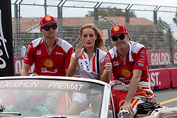 October 21, 2018 - Gold Coast, QLD, U.S. - GOLD COAST, QLD - OCTOBER 21: Scott McLaughlin and Alexandre Premat in the Shell V-Power Racing Team Ford Falcon during the parade lap at The 2018 Vodafone Supercar Gold Coast 600 in Queensland, Australia. (Photo by Speed Media/Icon Sportswire) (Credit Image: © Speed Media/Icon SMI via ZUMA Press)