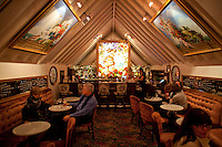 The bar at Tavern on the Green. Oil Paintings and Tiffany Galss. .(Photo by Robert Caplin)..