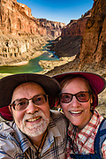 Selfie view from Nankoweap Granaries Trail in Marble Canyon at Colorado River Mile 53.4. This image is from Day 3 of 16 days rafting 226 miles down the Colorado River in Grand Canyon National Park, Arizona, USA. For this photo's licensing options, please inquire at PhotoSeek.com.