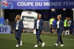 June 29, 2019 - Rennes, France - Nathalie Bjorn (FC Rosengard) and Fridolina Rolfo (FC Bayern Munchen) of Sweden  before the 2019 FIFA Women's World Cup France Quarter Final match between Germany and Sweden at Roazhon Park on June 29, 2019 in Rennes, France. (Credit Image: © Jose Breton/NurPhoto via ZUMA Press)