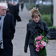 NLD/Amsterdam/20111221 - Uitvaart Olga Madsen, Henk Spaan en partner Henriette